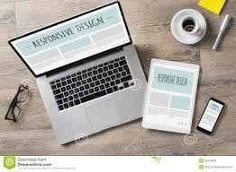 Design Desk by Responsive Design And Web Devices Stock Photo Image 55415878