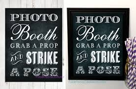 photo booth sign groopdealz printable chalkboard photo booth sign