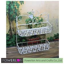 Metal Wall Planter by Wall Hanging Metal Flower Pot Holder Shelf Outdoor Wall Planter