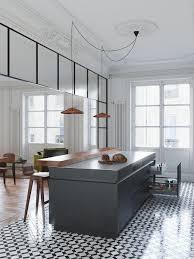 bloc de cuisine position du carrelage par rapport parquet et bloc de cuisine house