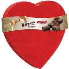 chocolate heart box whitman s sler chocolates velvet heart box 22 oz