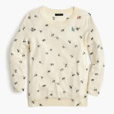 tippi sweater in embellished bee print j crew