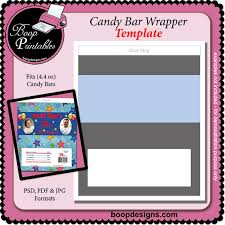 candy bar wrapper 4 4 oz template by boop printable designs