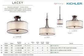 4 Light Semi Flush Ceiling Fixture by Kichler 42387ap Antique Pewter Lacey 4 Light 20