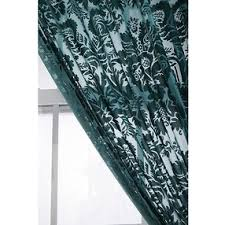 Teal Damask Curtains Damask Velvet Burnout Curtain Teal 52x84 By Outfitters