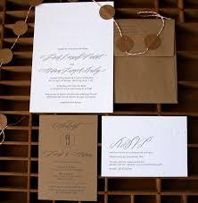 wedding invitations kraft paper adam s calligraphy and kraft paper wedding invitations