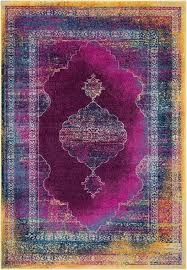 Magenta Area Rug Bungalow Overdyed Distressed Blue Magenta Area Rug
