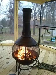 Bronze Cast Iron Chiminea Hampton Bay 54 In Cast Iron Chiminea W129c At The Home Depot