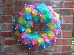 diy cocktail umbrella wreath tutorial must have mom