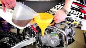 pitbike oil change youtube