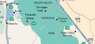Map Of Death Valley Death Valley A Desert In California Travel Featured