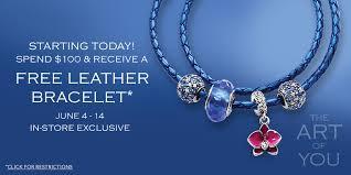 free leather bracelet images Pandora deal 2015 spend 100 get free leather bracelet jpg