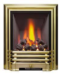 modern savannah slimline inset gas fire brass coal 81086