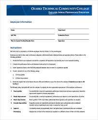 employee evaluation form samples 9 free documents in word
