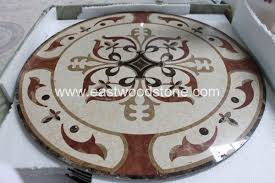 golden arch shape mosaic floor tile pattern