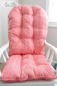 Chair Cushion Color Glider Rocking Chair Cushions In Coral Custom Made By