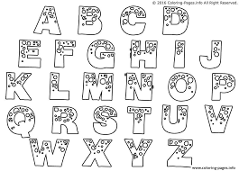 letter coloring pages free bubble letters coloring pages free download printable