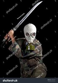 Halloween Costumes With Gas Mask by Super Villain Super Hero Wearing Gas Stock Photo 156838169