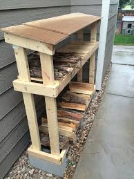 firewood storage that is easy to make and keeps wood dry and out