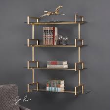 auley gold wall shelf uttermost wall shelves brackets wall decor