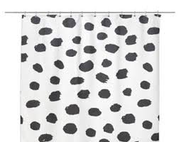 Grey And White Polka Dot Curtains Dots Shower Curtain Etsy