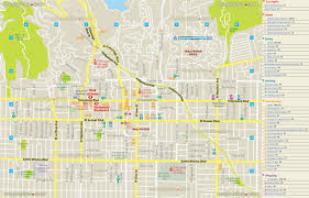 griffith park map los angeles map layout travel map showing nightclubs