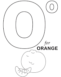 orange fruit alphabet coloring pages alphabet coloring pages of
