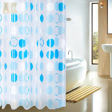 Shower Curtain Contemporary White And Blue Circles Contemporary Shower Curtains Buy Blue
