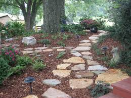 stone walkway in shade garden wooded back yard ideas pinterest