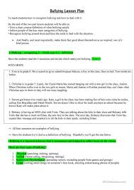 bullying survey worksheet no dont bully anti lesson ideas on