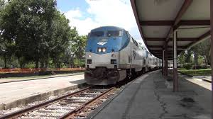 amtrak train no 98 silver meteor station stop in winter park