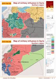 Raqqa Syria Map by Map Of Military Influence In Syria 08 06 2017