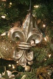 glittered fleur de lis ornaments fleur de lis mardi gras