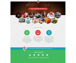 psd web template for designer modern photoshop website template
