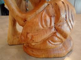 abstract modern contemporary wood carving