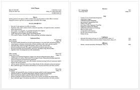 Physician Assistant Student Resume Medical Assistant Resume Format 16 Free Medical Assistant Resume