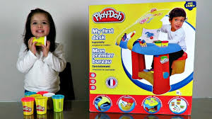 play desk for giant play doh box my first desk play doh youtube