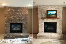 brick fireplace paint colors ideas painting brick fireplace
