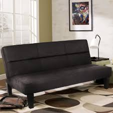 Living Room Brown Convertible Futon Sofa With Storage Black