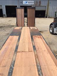 apitong wood flooring flatbed and trailer option