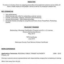 sle resume for bartending position bartender resume exle bartending work it pinterest