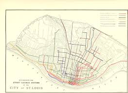 Stl Metro Map by Are There Any Maps Of All Of The Old Streetcar Lines Stlouis