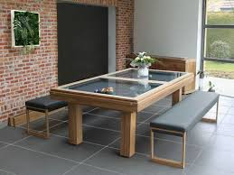 Pool Table Converts To Dining Table by Glass Pool Table With Bench Pool Table Accessories Pinterest