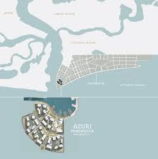 lagos city map the azuri peninsula eko atlantic lagos archinaija