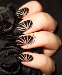 sparkly striping tape nail art the adorned claw