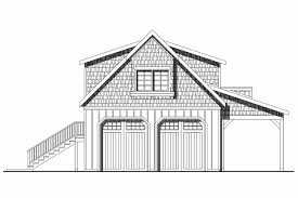 craftsman house plans 2 car garage w loft 20 077 associated garage plan 20 077 front elevation