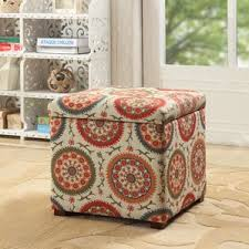 Orange Storage Ottoman Orange Ottomans U0026 Poufs You U0027ll Love Wayfair