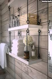 Hanging Bathroom Shelves Modern Diy Hanging Bathroom Shelves
