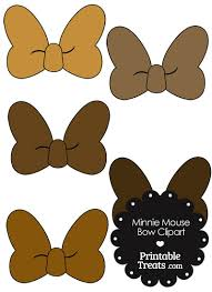 minnie mouse bow clipart shades brown u2014 printable treats
