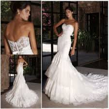 china mermaid bridal wedding gown lace tulle sheer corset